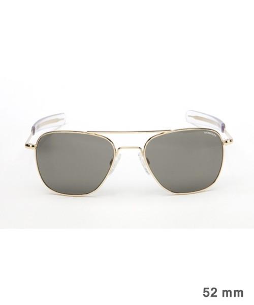 Randolph Aviator Size 52 (small) - gold plated frame, neutral grey lenses, bayonet temples