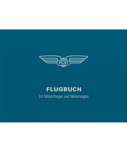 Flugbuch für Motorflieger u. -segler BLAU - DIN A6 (14,8 x 10,5 cm), 96 Innenseiten