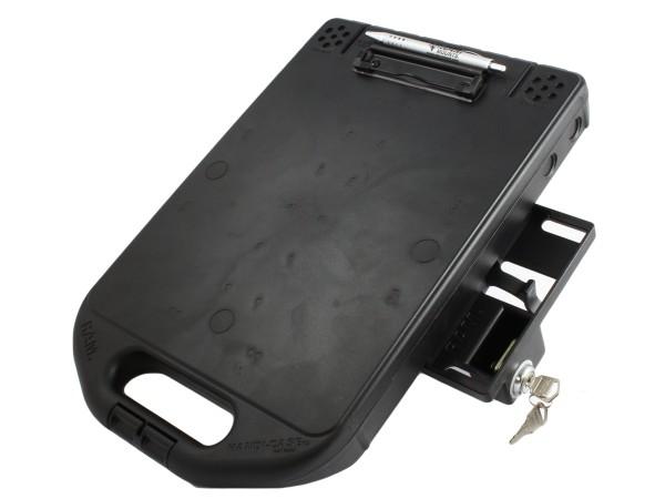RAM Mounts Verbundstoff Aufbewahrungs-Box (ca. 31x25x3,5 cm) mit seitlichem Verschlussmechanismus -