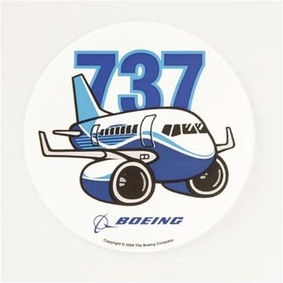 Boeing 737 Pudgy Aufkleber