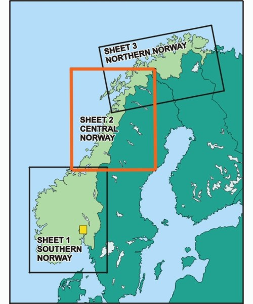 Norway ICAO Chart - Sheet Central, Paper, folded