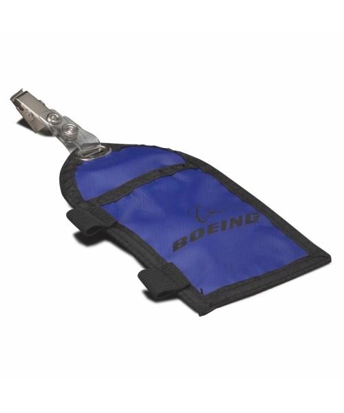 Boeing Lizenz-/Ausweishülle mit Stifthalter - blau