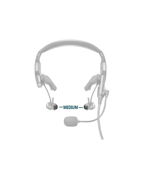 BOSE Silicon Ear Tipkit Stayhear ProFlight Headset - Medium, 2 Pairs