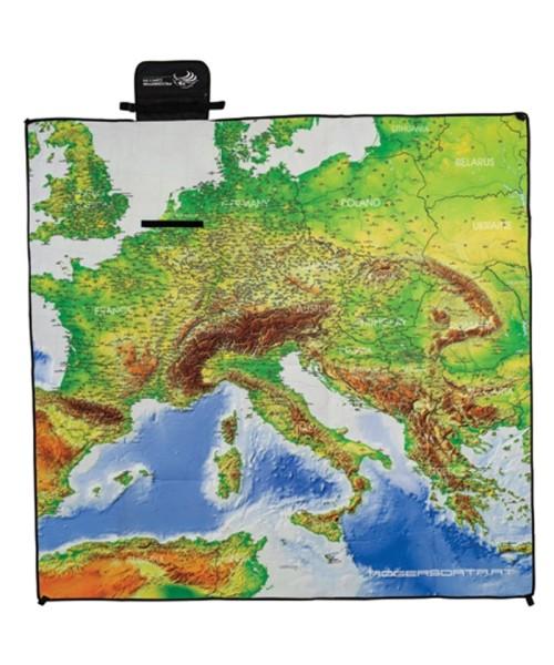 "Rogers Data Picnic Blanket European Aerodromes XL - 71"" x 71"""