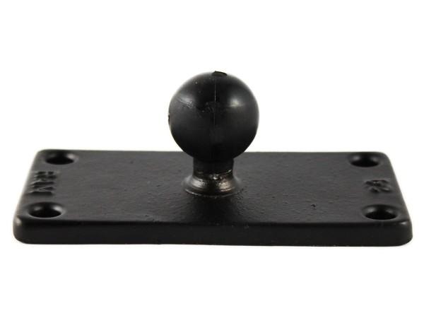 RAM Mounts Basisplatte rechteckig - 50,8 x 101,6 mm (2 x 4 Zoll) - B-Kugel (1 Zoll), im Polybeutel