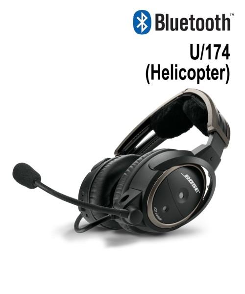 BOSE A20 Aviation Headset - U/174-Stecker (Helicopter), gewendeltes Kabel, Bluetooth