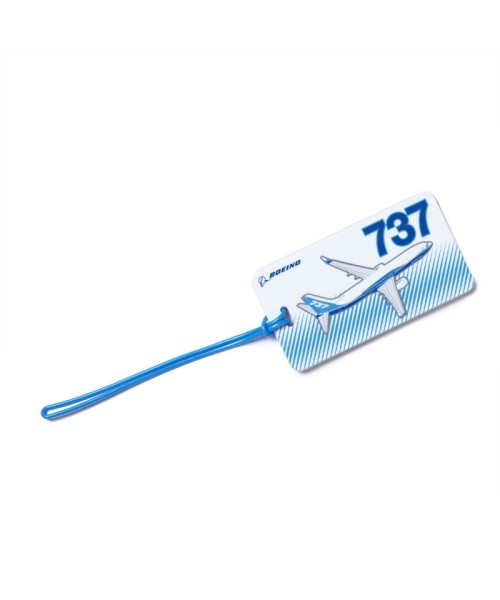 Boeing 737 Profile Luggage Tag