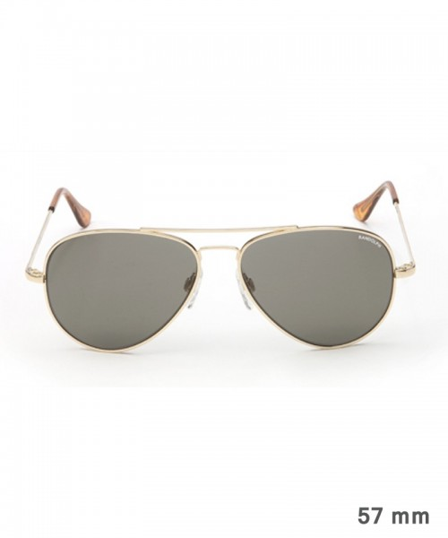 Randolph Concorde Size 57 (medium) - gold plated frame, neutral grey lenses, golf temples