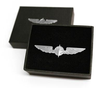 Pilot Wings - Anstecker, silberfarben