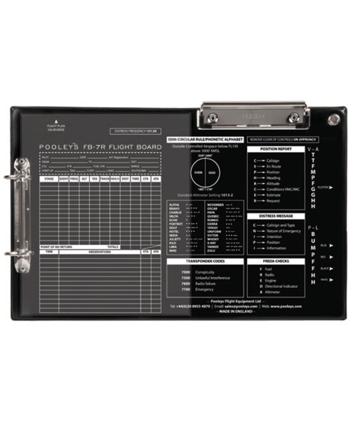 Pooleys FB-7 Flight Board - for right-hand users