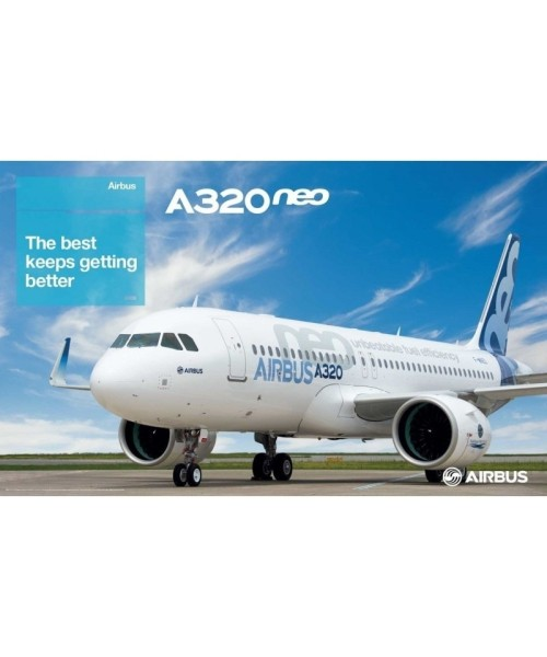"Airbus A320neo Poster - Outside View, 39.4"" x 23.6"""