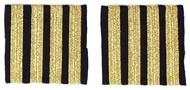 Captain Epaulettes - four bars, gold
