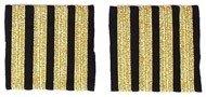 Rangabzeichen Flugkapitän - Schulterstreifen für Piloten, vier Streifen, goldfarben