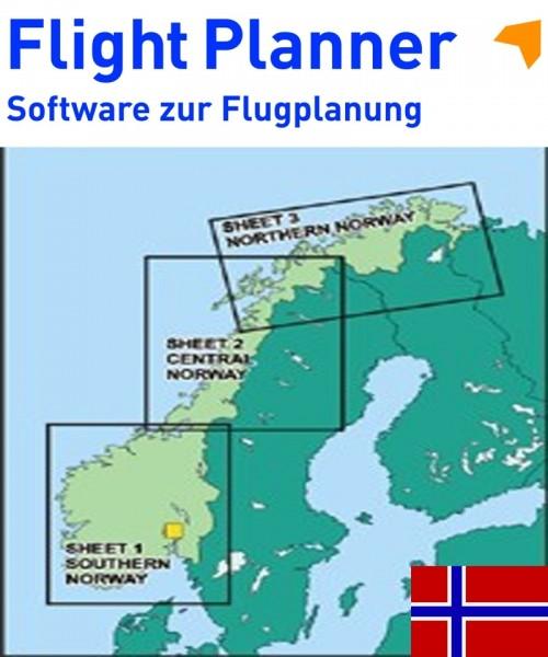 Flight Planner / Sky-Map - ICAO Karten Norwegen, komplett (AVINOR)