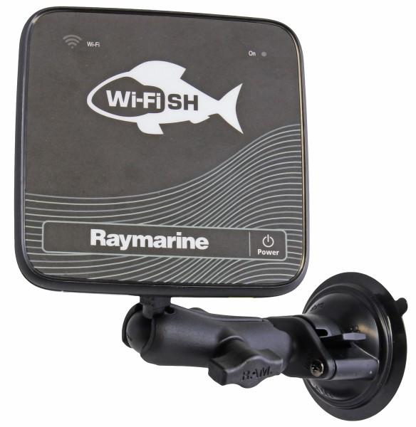 RAM Mounts Saugfuss-Halterung Raymarine - mittlerer Verbindungsarm, Diamond-Basisplatte (Trapez), Ku