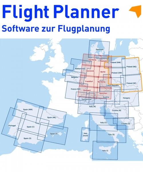 Flight Planner / Sky-Map - DFS Visual 500 Polen (NW / SW / NO / SO)