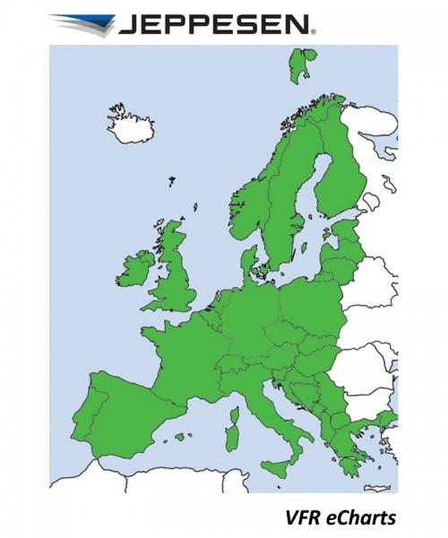 JeppView Electronic Charts VFR Europa (Europe) - für Garmin aera 795, inkl. 12 Monate Berichtigungsd