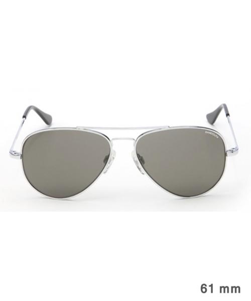 Randolph Concorde Size 61 (large) - chrome brilliant frame, neutral grey lenses, golf temples