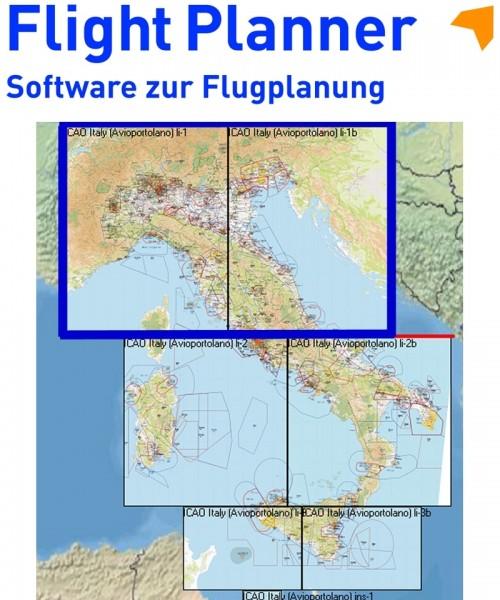 Flight Planner / Sky-Map - Aerotouring VFR Flight Chart Italy North/Center