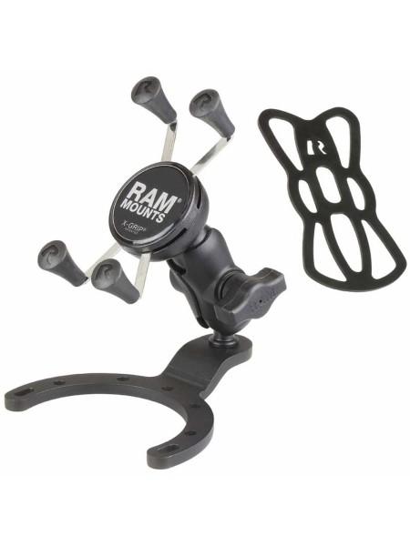 RAM Mounts Motorradhalterung mit X-Grip Universal Halteklammer für Smartphones - Tankbasis (BMW, Ka