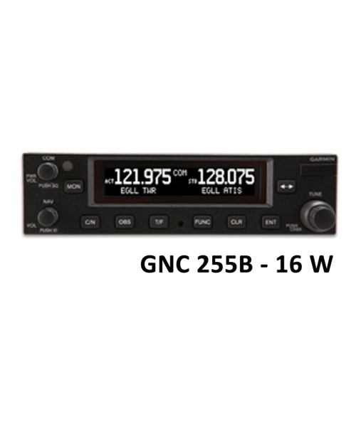 Garmin GNC 255B, Comm/Nav, 8,33 & 25 kHz, 16W - incl. Installation Kit, Fixed Wing only