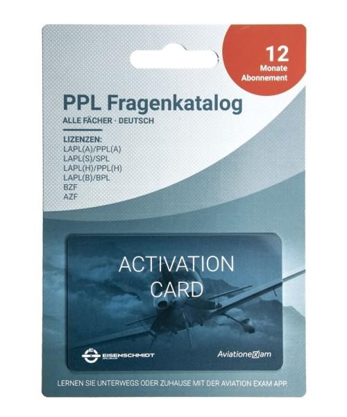 PPL Fragenkatalog LAPL (A/H/S/B), PPL (A/H), SPL, BPL, BZF/AZF - Produktkarte, Abo 12 Monate, deutsc