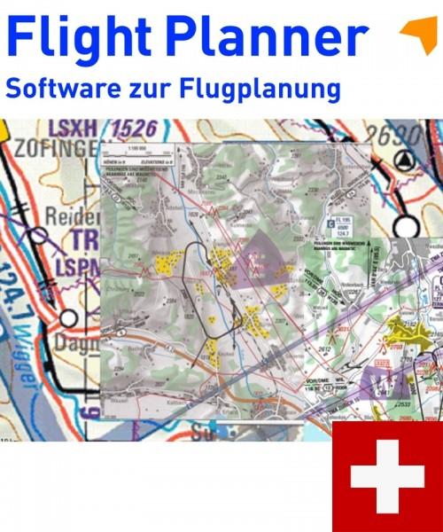 Flight Planner / Sky-Map - VFR Sichtanflugkarten Schweiz (BAZL)