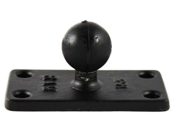 "RAM MOUNT 1.5 x 3 Rectangle Base with 1"" B-Ball (RAM-B-202U-153)"