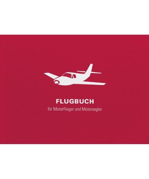Flugbuch für Motorflieger u. -segler ROT - DIN A6 (14,8 x 10,5 cm), 96 Innenseiten