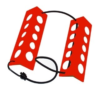 Wheel Chocks - 8 Inches, red