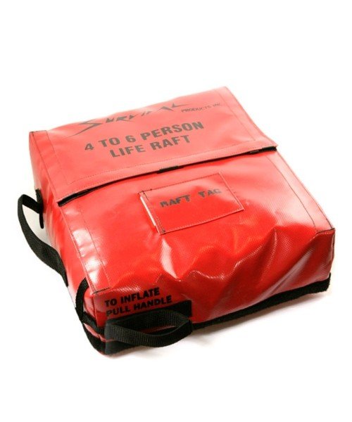 Life Raft basic for 4-6 persons - incl. canopy top & survival pack