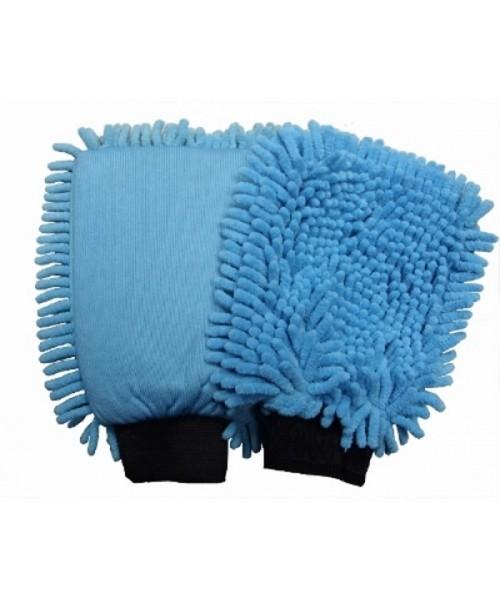 ROTWEISS - Mikrofaserhandschuh, zwei Reinigungsseiten