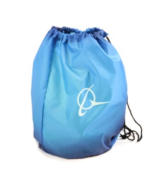 "Boeing Living Blue Sinch Sack - 12"" x 16"" with zipper pocket"
