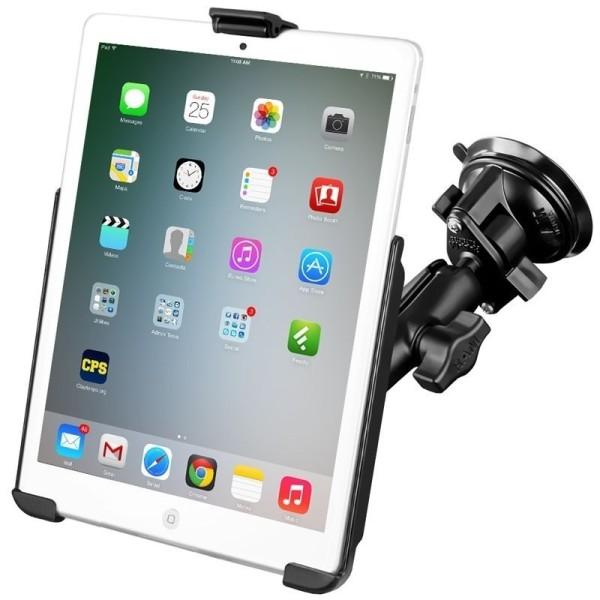 RAM Mounts Saugfuss-Halterung Apple iPad mini 1-3 - mittlerer Verbindungsarm, Diamond-Basisplatte (T