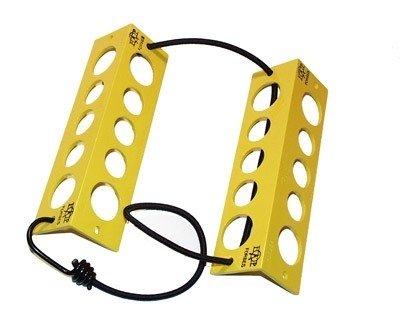 Wheel Chocks - 8 Inches, yellow
