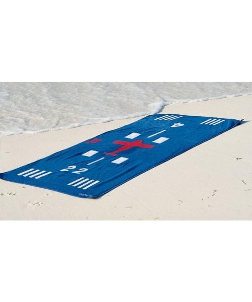 Runway Strandhandtuch - 90 x 180 cm, blau
