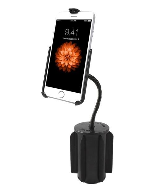 RAM MOUNT Ram-A-Can II, Cup Holder Mount for Apple iPhone 6/7, Flex Arm - RAP-299-2-AP18U