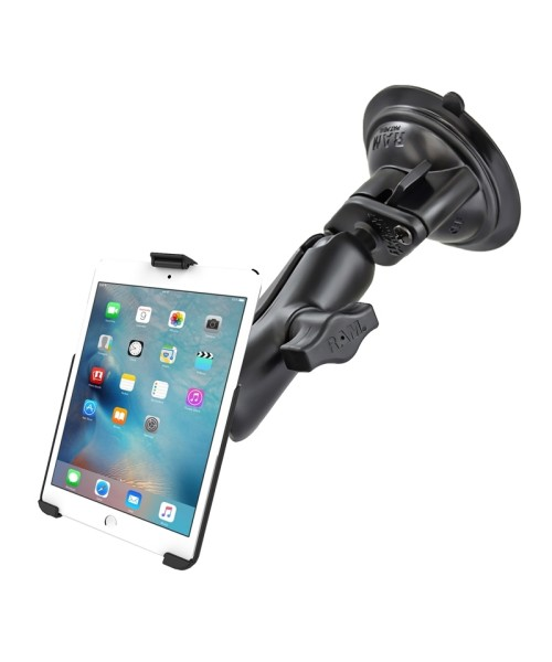 RAM MOUNTS Suction Cup Mount for Apple iPad mini 4 (without sleeves) - medium size connector