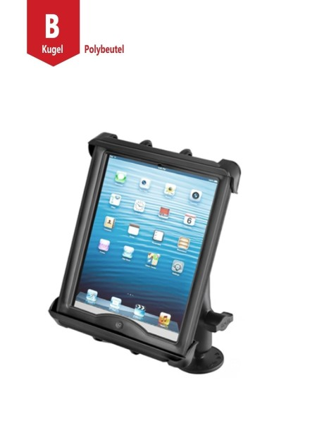 RAM Mounts Universal Tablet Aufbau-Halterung für 10 Zoll Tablets - mit runder Basisplatte (AMPS), B-