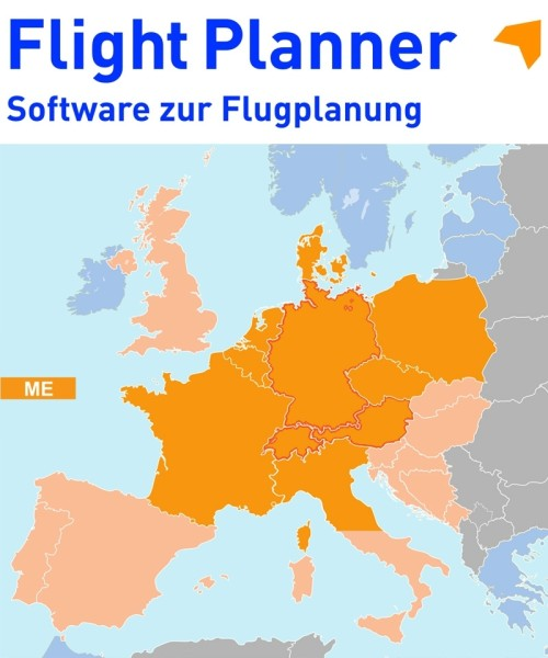 Flight Planner / Sky-Map - Chart Set Germany and neighbouring Countries (ICAO-ME)