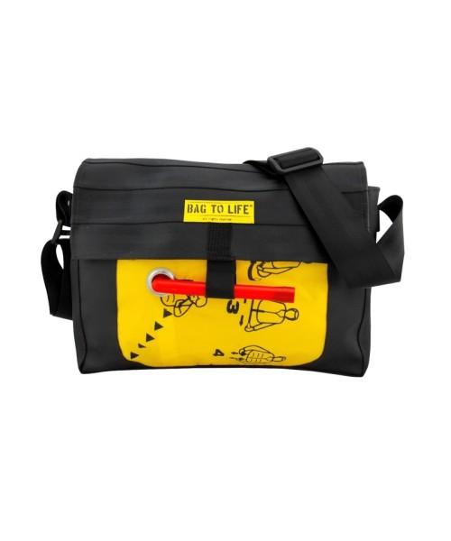 BAG TO LIFE Co-Pilot Bag - schwarz/gelb