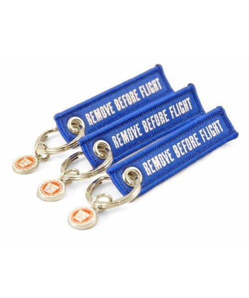 Mini Key Ring REMOVE BEFORE FLIGHT - Set of 3, blue