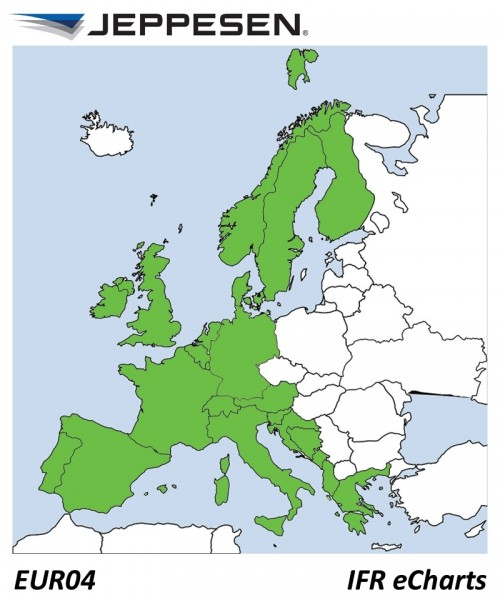 JeppView Electronic Charts IFR Europa EUR04 (Europe) - für Garmin aera 795/GPSMAP 695, inkl. 12 Mona