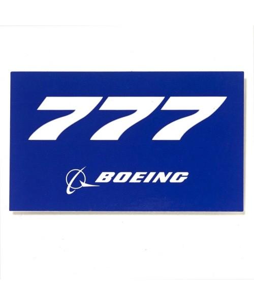 Boeing 777 Blue Aufkleber