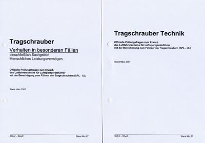 UL-Fragenkatalog - SPL-UL inkl. Tragschrauber (Printversion inkl. Ordner)