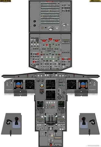 Airbus A-319/320/321 Cockpit Training Poster