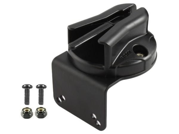 RAM Mounts Mikrofon-Clip für Tough-Boxen mit Metall-Winkel (90°) - Verbundstoff, Schrauben-Set
