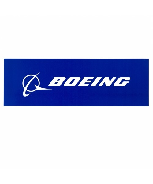 Boeing Signature Sticker - blue, 8 x 2 inches