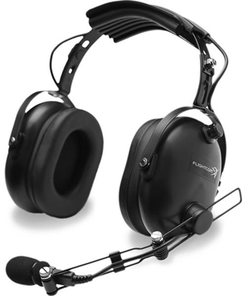 Flightcom 4DX Classic - passive Pilot Headset, Twin Plugs (GA)