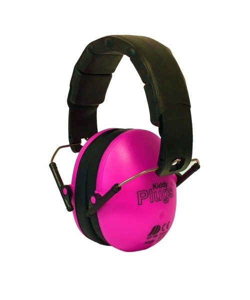 KiddyPlugs - Noise Protection for Children, neon pink